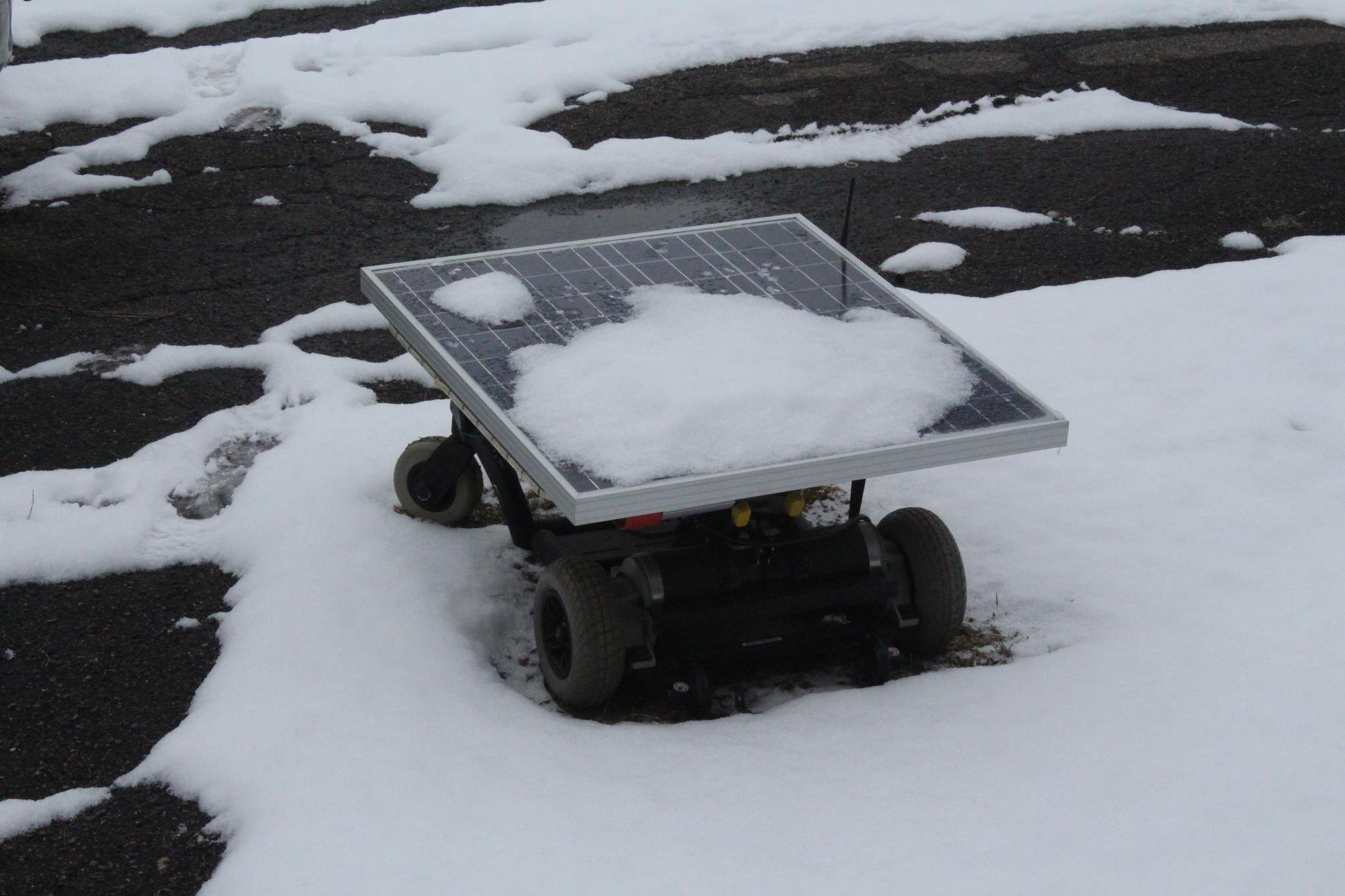 snow covered rover
